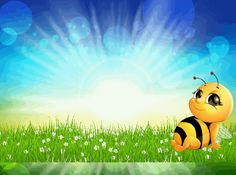 Hintergrund_Biene_04 Tigger, Disney Characters, Fictional Characters, Snoopy, Art, Bees, Craft, Kunst, Fantasy Characters