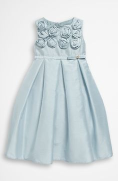 Free shipping and returns on Dorissa Sleeveless Shantung Dress (Toddler) at Nordstrom.com. Gorgeous rosettes dot the bodice of a sleeveless shantung dress shaped with a button-trimmed sash at the waist and inverted pleats at the skirt.
