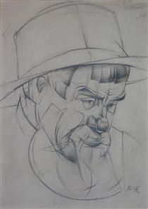 Portrait of a man - Oleksandr Bogomazov
