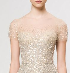 Sheer sparkle: #weddingdress #sparkle
