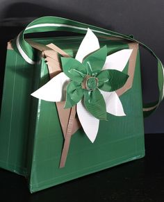 Green Duck Tape Purse Handbag in Green With Envy.
