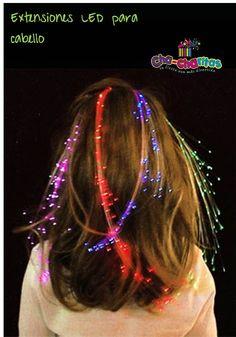 Extensiones de cabello LED