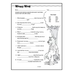 Printables Context Clues Worksheets 3rd Grade context clues word sleuth comprehension and clue printable weary wolf skill sheet uses multiple meaning words to teach