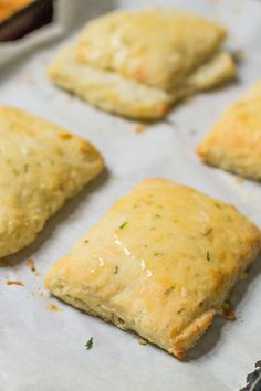 Rustic cream cheese and chive biscuits aren't really a biscuit, but more of a rich, savory quick roll. So good. Add them to your holiday table! #rolls #bread