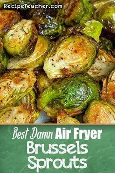 Air Fryer Recipes Keto, Air Frier Recipes, Air Fryer Dinner Recipes, Healthy Dinner Recipes, Cooking Recipes, Healthy Dinners, Healthy Foods, Veggie Dishes, Vegetable Recipes