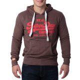 """Ανδρική Μπλούζα Hoodie """"Super Dry """" Real - Καφέ #www.pinterest.com/brands4all"""