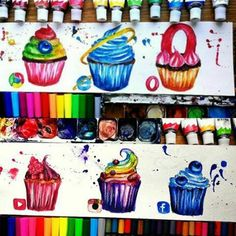 Social Media Drawing Cupecakes