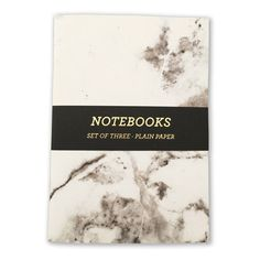 Nineteenseventythree Marble Notebook - A5 - Pack of 3 (460 THB) ❤ liked on Polyvore featuring home, home decor, stationery and fillers