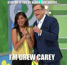 The Price Is Right (PriceIsRight) on Twitter - Host Drew Carey with one of our contestants. A student at USC! #MEME #Funny #Gotcha #DrewCarey #USC #GameShow #Host #PriceIsRight Drew Carey, Price Is Right, Music Memes, Retail Price, Singer, Student, Twitter, Funny, People