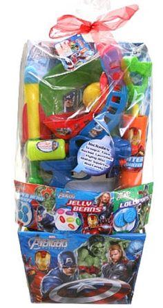 Pre-Made Easter Basket for Boys:  Avengers Easter Basket at Toys R Us