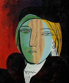 Pablo Picasso - portrait of Marie Therese. I do love Picasso. Art Picasso, Picasso Paintings, Georges Braque, Paul Gauguin, Art Moderne, Henri Matisse, Famous Artists, Art Reproductions, Painting & Drawing