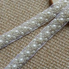Beaded Lace Trim - Ivory Pearl Beaded Trim long for Women sashes, Wedding Belt, Costume Jewelry Beaded Trim, Beaded Lace, Lace Trim, Jewelry Sets, Wedding Belts, Wedding Dress, Wedding Stuff, Walmart Jewelry, Lace