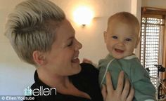 Soooo.... Pink has the cutest baby ever.  Just sayin.