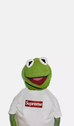 It's hard to ignore the beloved Kermit the Frog's role in bringing a little humor to the streetwear world. Now he's an icon in todays memes on social media.