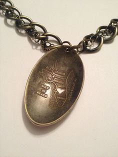 Florida spoon Necklace with Heart cutout on by GeorginaBaker, $42.00