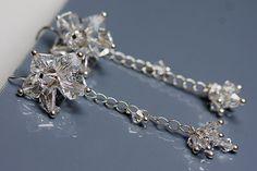 flower crystal earrings based on Swarovski crystals