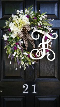 Grapevine Wreath Hydrangeas Personalized by DesignTwentyNineSC