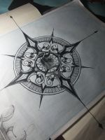 Mandala Compass Design by mandala-for-a-life