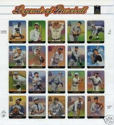 Legend of Baseball pane of 20 x 33 cent U.S. Stamps 200 . $14.54. One (1) full sheet of the Legend of Baseball Pane of 20 x 33 cent  United States U.S. Postage stamps  In mint condition.    Scot # 3408