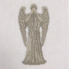 Weeping angel cross-stitch