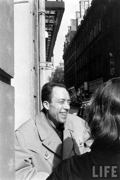 Camus having a laugh.