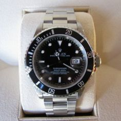 #Rolex #Submariner #Date - #16610 - #Stainless #Steel #Jewelry #The #Antiques #Room #Galway #Ireland #Luxury #Watch €5,750 Luxury Watches, Rolex Watches, Rolex Submariner No Date, Galway Ireland, Steel Jewelry, Dating, Stainless Steel, Antiques, Gift