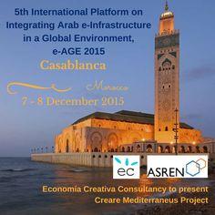 Economia Creativa Consultancy to present 'Creare Mediterraneus Project' on 7 - 8 December 2015 at e-AGE in Casablanca