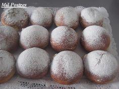 MIL POSTRES: Buñuelos vieneses de carnaval o bombas de albaricoque