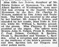 Prince William County Genealogy: Wedding Wednesday: Nelson/Speiden (1901) #genealogy #familyhistory