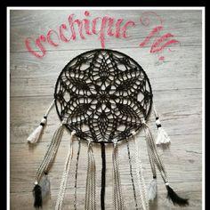 CrochiqueNL: (US) Crochique dreamcatcher - free pattern. Crochet Dreamcatcher Pattern Free, Mandala Pattern, Crochet Patterns, Mandala Crochet, Crochet Ideas, Dream Catcher Patterns, Dream Catcher Mandala, Crochet Gifts, Crochet Doilies
