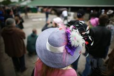 The hat parade at Kentucky Derby 2015