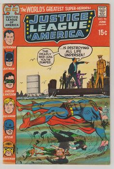 Justice League of America Vol 1 90 Bronze Age by  RubbersuitStudios #justiceleague #comicbooks #etsy
