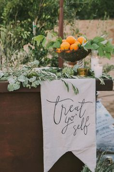 10 Gorgeous Ways to Incorporate Calligraphy into Your Wedding Decor via Brit + Co