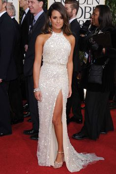 Lea Michele doesn't quite pull off the Ange look...