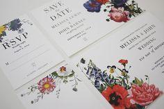 Vintage Botanical Wedding Invitations Printable Set