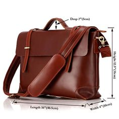 "Handmade Genuine Leather Briefcase / Leather Messenger Bag / 13"" 15"" MacBook 13"" 14"" Laptop Bag - n36-3"