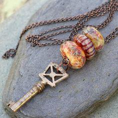 lampwork lariat necklace