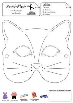 Katzenmaske. Eine anmutige Verkleidung gelingt mit dieser hübschen Maske.