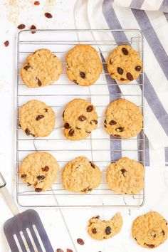 These gluten-free oatmeal raisin cookies will bring you back to your childhood! They are soft, chewy, and not too sweet. They're the perfect afternoon treat to enjoy with a glass of milk. Gluten Free Oatmeal, Gluten Free Flour, Dairy Free, Oatmeal Raisin Cookies, Cookie Dough, Glutenfree, Baked Goods, Food Print, Childhood