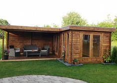 Flachdach Gartenhaus Modell ISO – The World Corner Summer House, Summer House Garden, Backyard Sheds, Backyard Patio Designs, Small Buildings, Garden Buildings, Tiny House Kits, Contemporary Garden Rooms, Pergola
