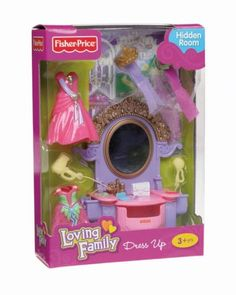 Fisher  Loving Family Dress Up Princess Hidden Room Vanity
