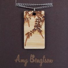Long Pine necklace in bamboo by amybengtson on Etsy, $48.00