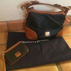 Dooney And Bourke Navy Blue Bag/Wristlet