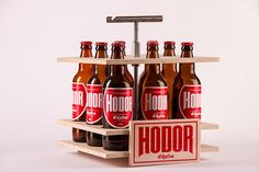 Hodor Craft Beer Packaging was Designed to Be Solid Yet Basic in Structure #lifestyle trendhunter.com