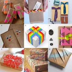 9 Creative Ideas for Quick & Easy Gift Wrap - Apartment Therapy  http://www.apartmenttherapy.com/9-creative-ideas-for-quick-easy-gift-wrap-182853