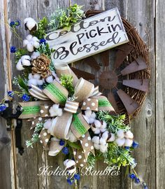 Cotton Pickin Blessed Windmill by Holiday Baubles