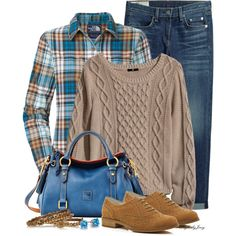 """""""Fall into your Boyfriend's Jeans"""" by stylesbyjoey on Polyvore"""