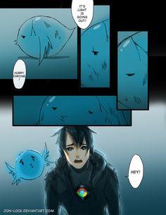 Chrome's Little Bird 14 by Jon-Lock on deviantART Anime People, Anime Guys, Manga Anime, Anime Art, Site Anime, The Awkward Yeti, 4 Panel Life, Anime Version, Horror