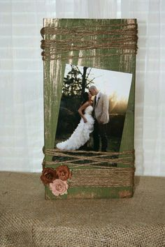 Want to put your wedding picture into a nice rustic wooden frame? Check out this frame made of pure wood. It looks primitive, but it will attract attention from anyone visiting your home.