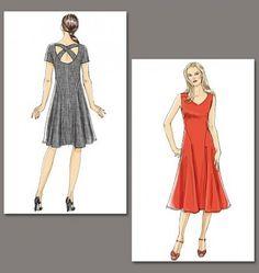 Sehr schickes und gleichzeitig verspieltes Kleid zum einfachen Selbernähen!